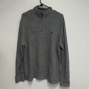 Polo by Ralph Lauren Grey Quarter Zip Sweater